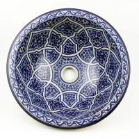 Orientalisches-Handbemaltes-Keramik-Waschbecken Fes44