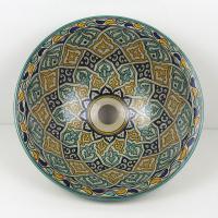 Orientalisches-Handbemaltes-Keramik-Waschbecken Fes19