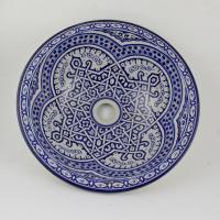 Orientalisches-Handbemaltes-Keramik-Waschbecken Fes62