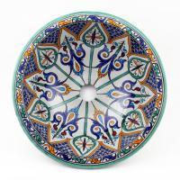 Orientalisches-Handbemaltes-Keramik-Waschbecken Fes31