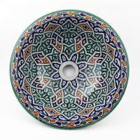 Orientalisches-Handbemaltes-Keramik-Waschbecken Fes54