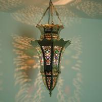 Silberhängelampe Basma