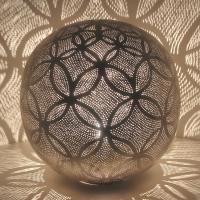 Silberne Stehlampe Luxor D42