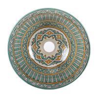 Orientalisches handbemaltes Keramik Waschbecken Fes111