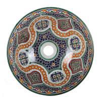 Orientalisches handbemaltes Keramik Waschbecken Fes113