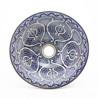 Orientalisches-Handbemaltes-Keramik-Waschbecken Fes70