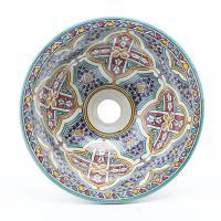 Orientalisches-Handbemaltes-Keramik-Waschbecken Fes73