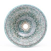 Orientalisches-Handbemaltes-Keramik-Waschbecken Fes74