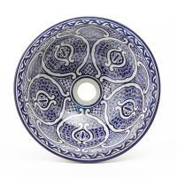 Orientalisches-Handbemaltes-Keramik-Waschbecken Fes75