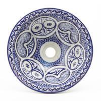Orientalisches-Handbemaltes-Keramik-Waschbecken Fes77