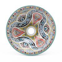 Orientalisches-Handbemaltes-Keramik-Waschbecken Fes79