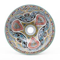 Orientalisches-Handbemaltes-Keramik-Waschbecken Fes81