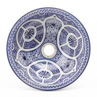 Orientalisches-Handbemaltes-Keramik-Waschbecken Fes82