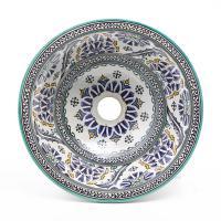 Orientalisches-Handbemaltes-Keramik-Waschbecken Fes85