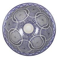 Orientalisches Handbemaltes Keramik Waschbecken Fes95