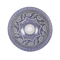 Orientalisches Handbemaltes Keramik Waschbecken Fes97