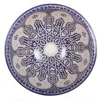 Orientalisches Handbemaltes Keramik Waschbecken Fes99