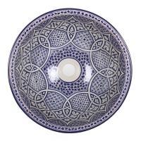 Orientalisches Handbemaltes Keramik Waschbecken Fes103