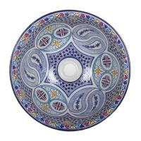 Orientalisches Handbemaltes Keramik Waschbecken Fes104
