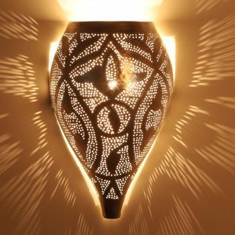 Marokkanische Silber-Wandlampe Matin