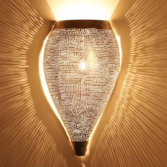 Marokkanische Silber-Wandlampe Ennis