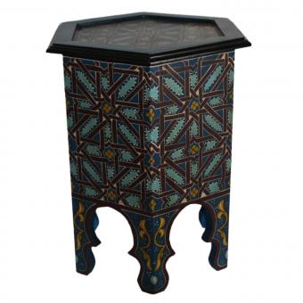 Marokkanischer Holz Beistelltisch Faris
