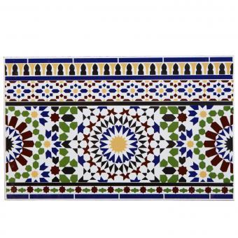 Orientalische Wand-Fliesen Bordüre Raza