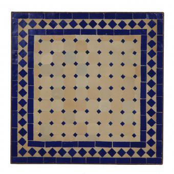 Couch-Mosaiktisch 60x60 Blau-Raute