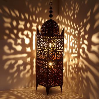 marokkanische eisen laterne firyal h 136 bei ihrem orient shop casa moro. Black Bedroom Furniture Sets. Home Design Ideas