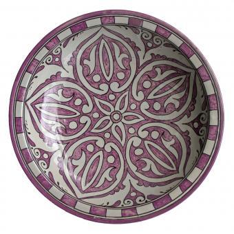 handbemalte Keramikschale aus Marokko F020