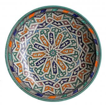 handbemalte Keramikschale aus Marokko F022