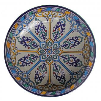 handbemalte Keramikschale aus Marokko F025
