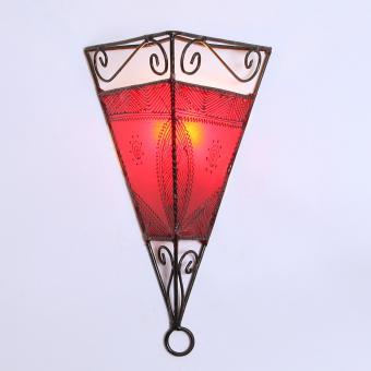 Leder-Wandlampe Emrah Rot