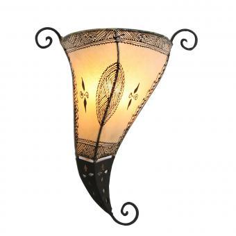 Orientalische Wandlampe Mina Weiss