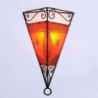 Leder-Wandlampe Emrah Orange