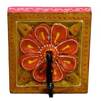 Orientalischer Kleiderhaken Kadira Gelb-Orange