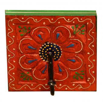 Orientalischer Kleiderhaken Kadira Orange-Grün