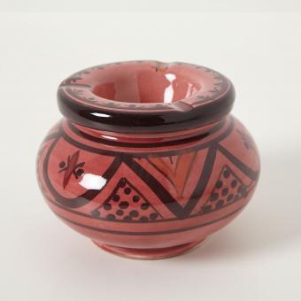 Keramik Aschenbecher rot