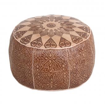 Orientalische Leder-Sitzkissen Tamir
