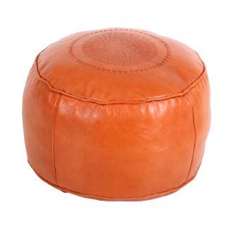 Orientalische Leder-Sitzkissen Rachida