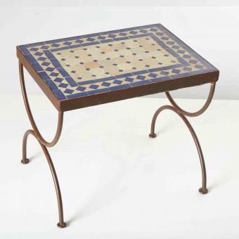 Mosaik-Beistelltisch L39 Blau/Terracotta