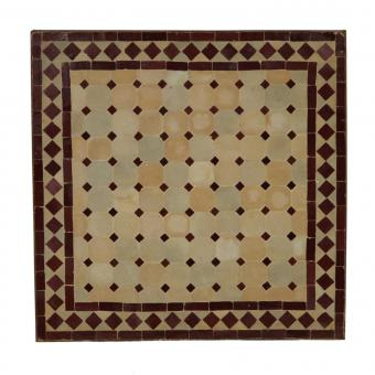 Mosaiktisch 80x80 cm Bordeaux/Raute