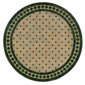 Mosaik Bistrotisch Rund 70 cm Grün/Raute