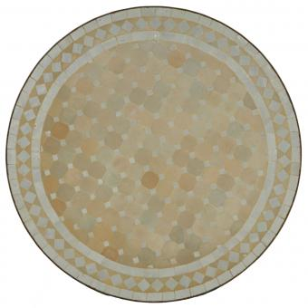 Mosaiktisch D100 Weiss/Raute
