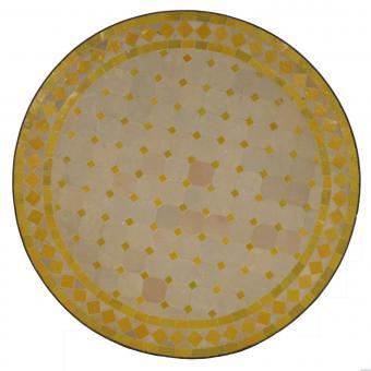 Mosaiktisch D120 Gelb-Raute