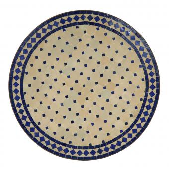Mosaiktisch D90 Blau/Raute