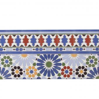 Marokkanische Fliesen-Bordüre Shala