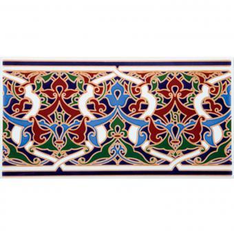 Marokkanische Fliesen-Bordüre Alhambra