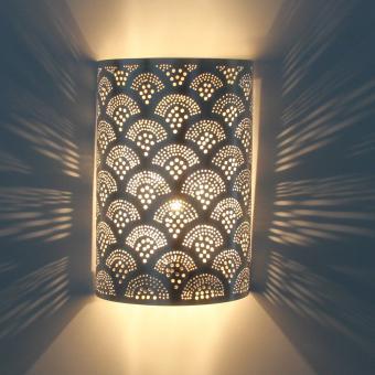 Marokkanische Silber-Wandlampe Aya