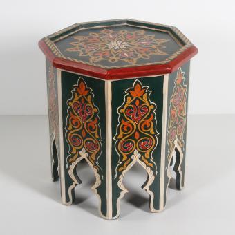 Marokkanischer Holz Beistelltisch Rakia Grün